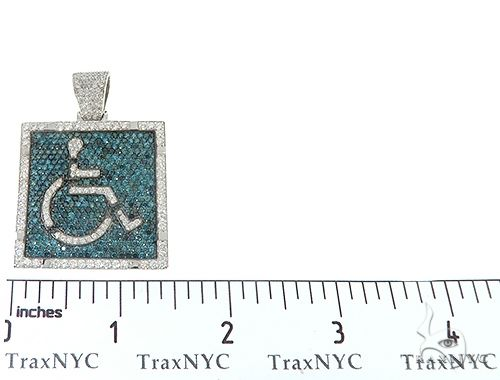 Square Handicap Diamond Pendant 65495 Metal