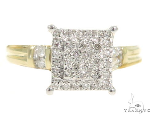 Square Head Diamond Engagement Ring Set 49389 Engagement