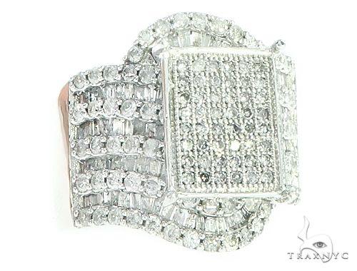 Square head diamond Cluster Ring 65802 Stone