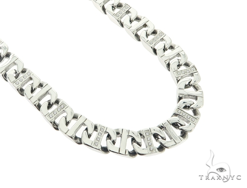 Stainless Steel Chain 24 Inches 13mm 148.8 Grams 57397 Stainless Steel