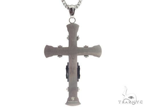 Stainless Steel Cross Crucifix Chain Set 57584 Stainless Steel