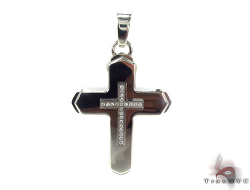 Stainless Steel Cross Crucifix n 24 Inches, 3mm 45.3 Grams Stainless Steel