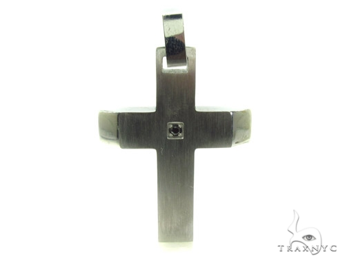 Stainless Steel Cross Crucifix n 24 Inches 2.5mm 16.6 Grams Stainless Steel