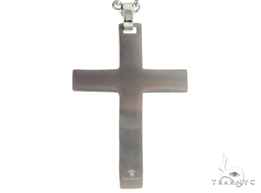 Stainless Steel Cross Crucifix Chain Set 57589 Stainless Steel