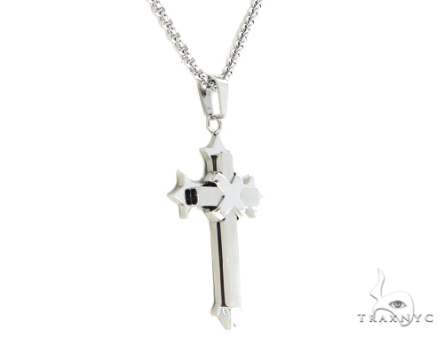 Stainless Steel Cross Crucifix Chain Set 57590 Stainless Steel