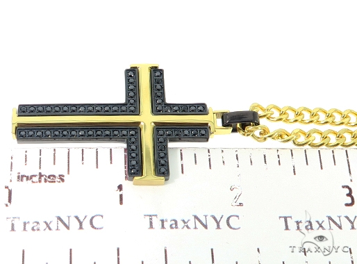 Stainless Steel Cross Crucifix Pendant Chain Set 57439 Stainless Steel