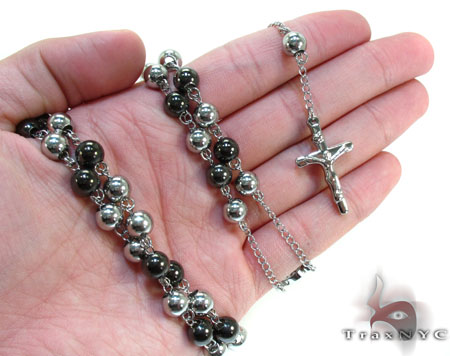 Stainless Steel Rosary 24 Inches 8mm 103 Grams Stainless Steel