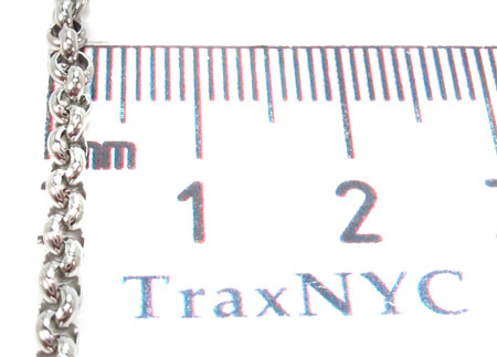 Stainless Steel Rosary n 24 Inches 3mm 23.40 Grams 31418 Stainless Steel