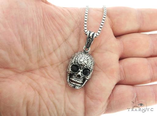 Stainless Steel Skull Head Pendant Chain Set 57429 Style
