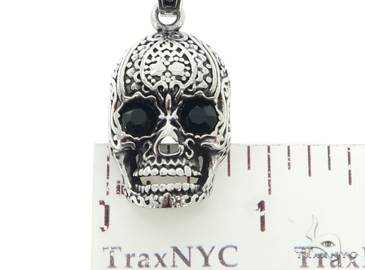 Stainless Steel Skull Head Pendant Chain Set 57429 Style