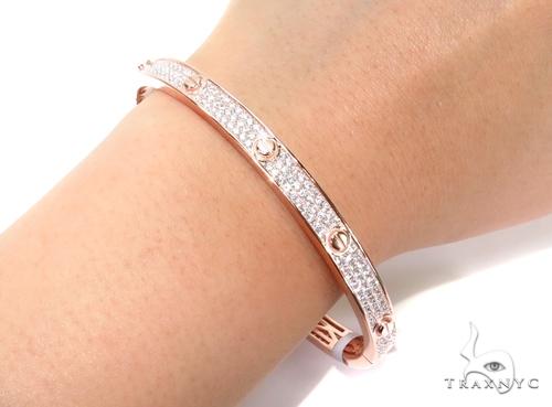 Sterling Silver Bangle Bracelet 41124 Silver