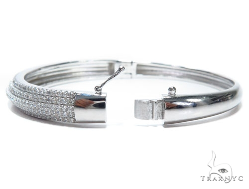 Sterling Silver Bangle Bracelet 41205 Silver & Stainless Steel