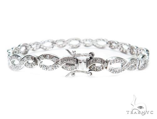 Sterling Silver Bracelet 41209 Silver & Stainless Steel