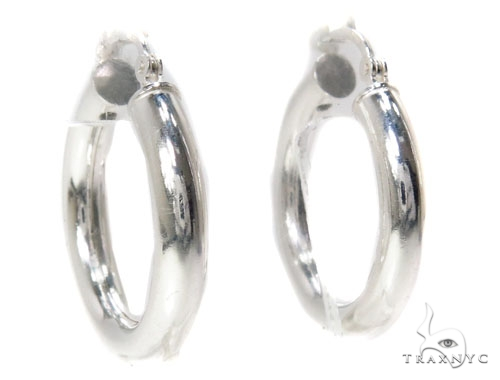 Sterling Silver Hoop Earrings for Women-40038 Metal