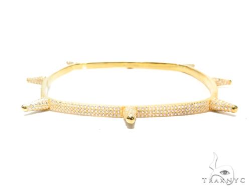 Sterling Silver Squar Bangle Bracelet 41947 Silver & Stainless Steel