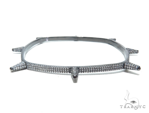 Sterling Silver Squar Bangle Bracelet 41949 Silver & Stainless Steel