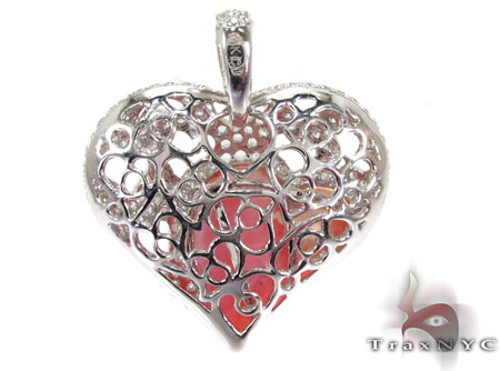 Strawberry Heart Diamond Gemstone Pendant Style