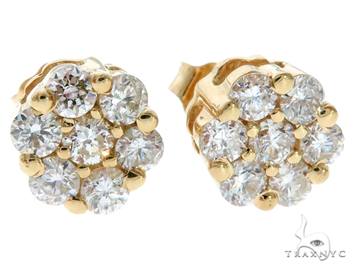 Stud Diamond Earrings Stone