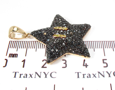 Super Mario Bros Star Black Color Diamond Pendant Metal