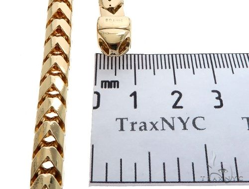 Super Solid Franco Chain 30 Inches 7mm 254.2 Grams Gold