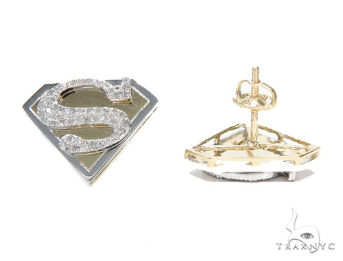Superman Diamond Earrings 42552 Stone