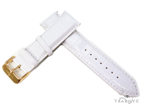 Techno Master White Leather Band 25mm 40683 Watch Accessories