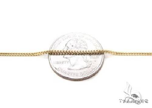 Thin Solid Franco Chain 14K Yellow Gold 24 Inches 1.5mm 12.0 Grams 67431 Gold