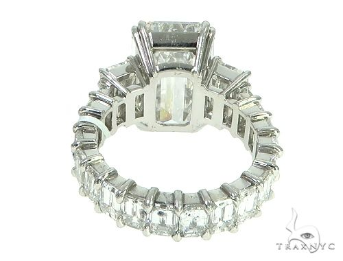 Three Stone Eternity Diamond Engagement Ring 65914 Wedding