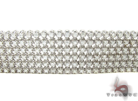 Toni 6 Row Bracelet Diamond