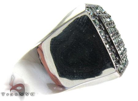 Trax NYC Heavy Green Color Diamond Ring Stone