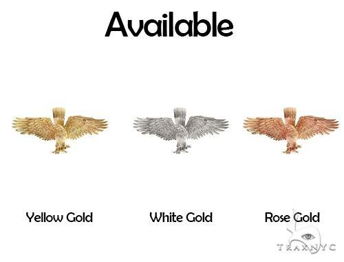TraxNYC 14K Gold Eagle Pendant 66355 Metal