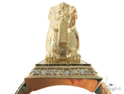 TraxNYC Custom Made Great Sphinx of Giza Diamond Ring Stone