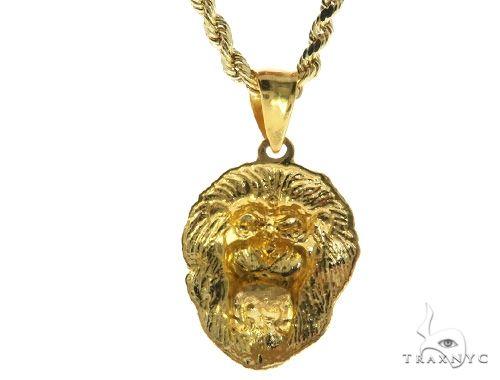 TraxNYC Ruby Lion Pendant and Rope Chain Set 61556 Style