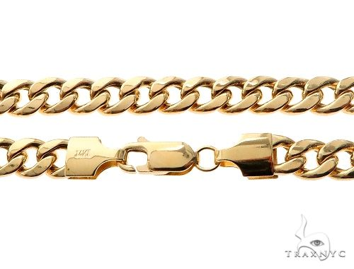 TraxNYC's Best Buy 14KY Hollow Cuban Curb Link Chain 30 Inches 5.5mm 27.4 Grams 64067 Gold