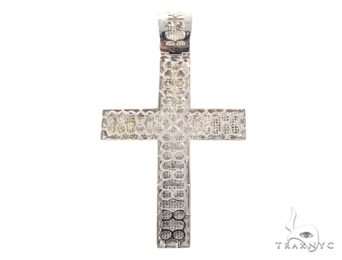 Triple Color Diamond Cross Crucifix 45535 Diamond