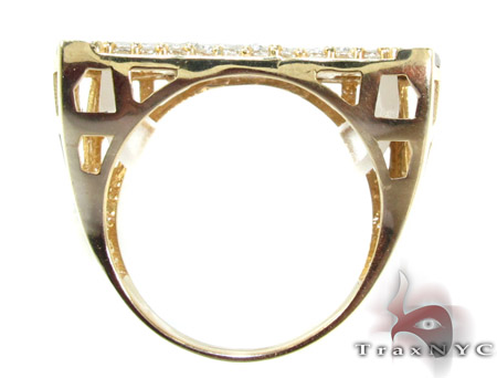 Two Tone 10K Gold CZ Ring 25243 Metal