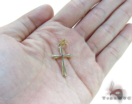 Two Tone 14K Gold Cross Crucifix Gold