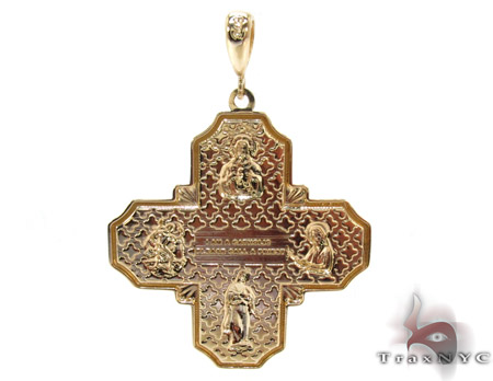 14K Gold Two Tone Cross Gold