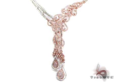 Two Tone Color Gold Diamond Necklace 28323 Diamond