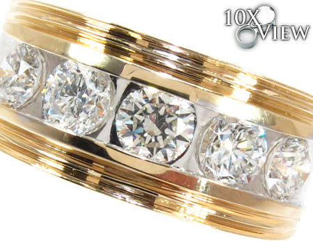 Two Tone Colossal Large Ring 26614 Stone