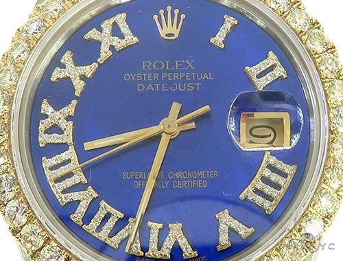 Two Tone Diamond DateJust 36mm Rolex Watch 65814 Diamond Rolex Watch Collection