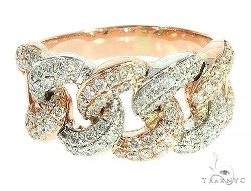 Two Tone Diamond Miami Cuban Link Ring 65823 Stone