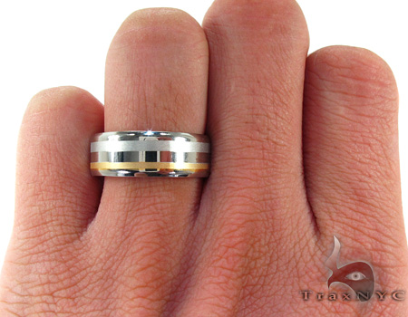 Mens Cheap Brushed on Shine Stainless Steel Ring Metal