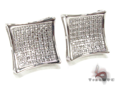 Mens Diamond Earrings 21653 Stone