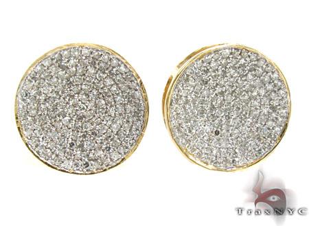 Mens Diamond Earrings 21671 Stone