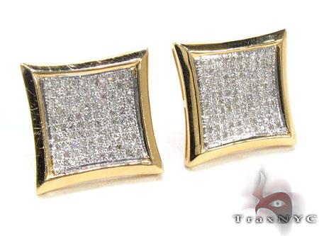 Mens Diamond Earrings 21674 Stone