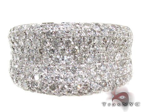 Unisex Pave Diamond Ring 21509 Stone