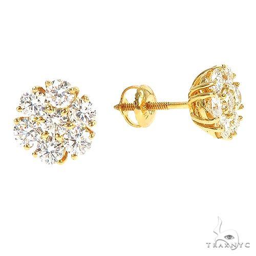 VS Diamond Flower Earrings 67068 Stone