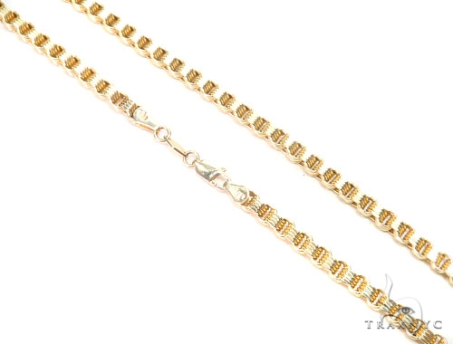 Venetian 10k Gold Chain 22 Inches 4mm 14 Grams 43596 Gold