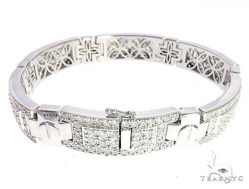14K White Gold Bridgeport Bracelet Diamond